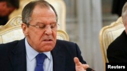 """All attempts to turn Russia into a party to the conflict are counterproductive and have no chance of success,"" Russian Foreign Minister Sergei Lavrov told the State Duma on November 19. (file photo)"