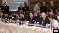 Конференцијата на министри за одбрана на САД и Јадранската група во Скопје.