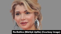 Портрет Гульнары Каримовой, старшей дочери покойного президента Узбекистана Ислама Каримова.