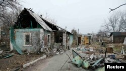 Донецки һава аланы янындагы өйләр