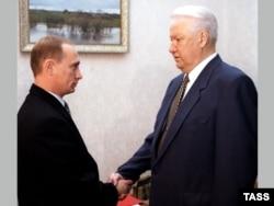 Борис Ельцин и Владимир Путин. 1998 год