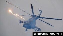 Вертолёт на учениях «Запад-2017». Иллюстративное фото.