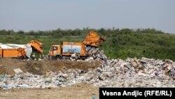 A Belgrádhoz közeli hulladéklerakó 2018. május 28-án