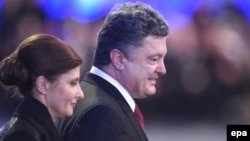 Ուկրաինայի նախագահ Պետրո Պորոշենկոն և կինը՝ Մարինան, արխիվ