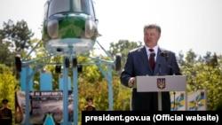 Petro Poroshenko gjatë fjalimit të sotëm në qytetin Lvov