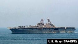 Američki brod USS Boxer u vodama Zaljeva
