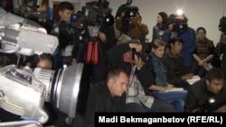 Казахстанские журналисты на пресс-конференции. Иллюстративное фото.