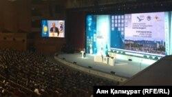 Алматы әкімі Бауыржан Байбектің тұрғындарға есеп беру жиыны. Алматы, 21 ақпан 2018 жыл.