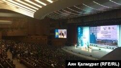 Отчетная встреча акима Алматы Бауыржана Байбека с населением. Алматы, 21 февраля 2018 года.