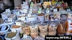 """Цены на продукты, овощи и крупы на рынке """"Привоз"""" в Симферополе"""