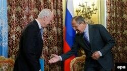 لافروف يرحب بدي ميستورا في موسكو - 21 تشرين الأول 2014
