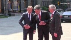 Порошенко зустрівся з Туском і Юнкером перед самітом «Україна-ЄС»