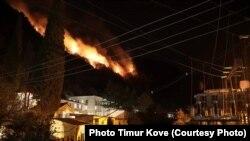Наиболее сильный пожар бушевал в высокогорной части Гагрского хребта