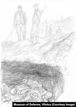 Рисунок художника Миндаугаса Лукошайтиса