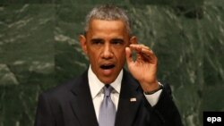 Birleşen Ştatlaryň prezidenti Barak Obama.