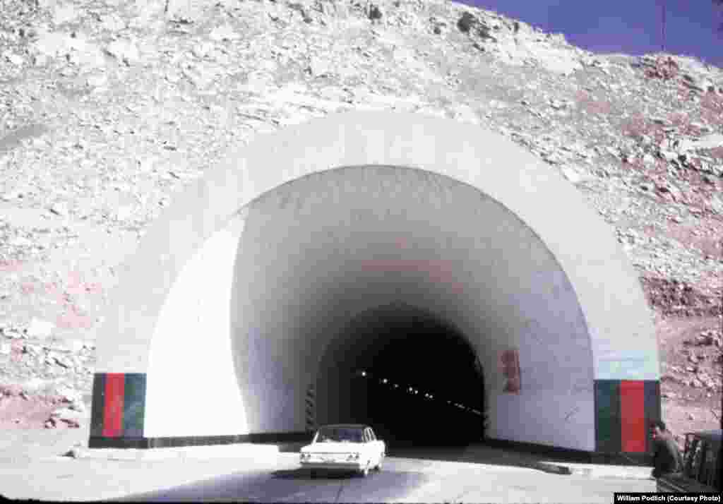 The 2.6-kilometer-long Salang Tunnel, which passes beneath the Hindu Kush mountain range, was built with the help of the Soviet Union. It opened in 1964.