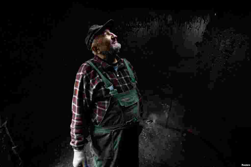 Это Зигмунт Фурдигьел – он один из нескольких работников, которые вручную производят древесный уголь.