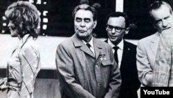 Leonid Brejnev ABŞ prezidenti Niksonun qəbulunda - 1973