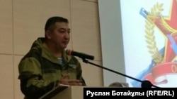 Председатель «Союза ветеранов-участников боевых действий на Таджико-Афганской границе» Мурат Мухамеджанов. Астана, 4 ноября 2015 года.