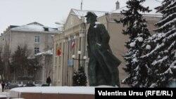 Lenin în... Moldova, la Comrat (febr. 2014)