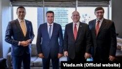 Зоран Заев и Никола Димитров со Филип Рикер и Метју Палмер во Њујорк