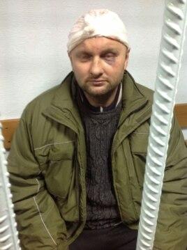 Один із затриманих (Фото Ірини Геращенко)