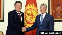 Алмазбек Атамбаев Сооронбай Жээнбековду 3-ноябрда кабыл алды