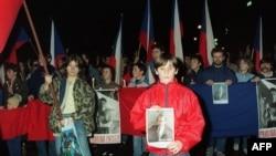 Demonstraţiile studenţilor de la Praga din decembrie 1989