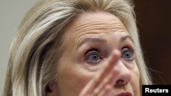 U.S. Secretary of State Hillary Clinton testified at the House Committee on Foreign Affairs on October 27.