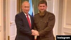 Президент РФ Владимир Путин с главой Чечни Рамзаном Кадыровым