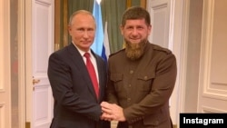 Президент Росії Володимир Путін і голова Чечні Рамзан Кадиров