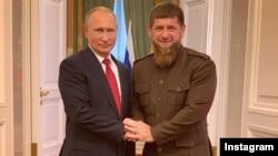 Рамзан Кадыров Владимир Путинмен