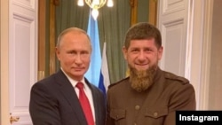 Кадыров Рамзан а (аьтту агIор), Путин Владимир а Кремлехь.