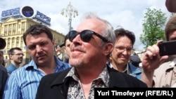 Андрей Макаревич на митинге оппозиции, Москва, май 2012 г.
