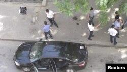 В этой машине был убит сотрудник пресс-службы президента Дагестана Гарун Курбанов