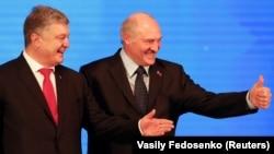 Пятро Парашэнка і Аляксандар Лукашэнка, кастрычнік 2018