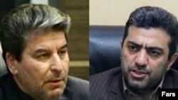 هادی بهادری، نماینده اورمیه (راست) و محمدمهدی شهریاری، استاندار آذربایجان غربی