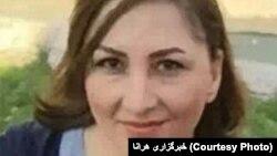 عکسی که خبرگزاری هرانا از آتسا احمد آئی منتشر کرده است