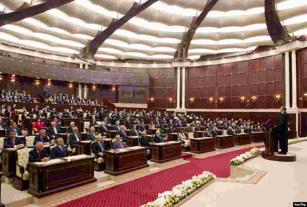 Deputies packed the parliament for the inauguration ceremony.