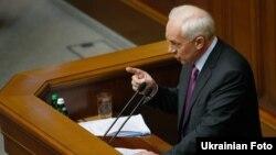 Прем'єр-міністр Микола Азаров під час виступу в парламенті