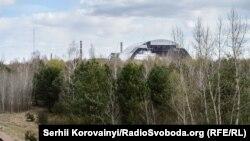 Так виглядає новий конфайнмент з залізничного мосту поблизу в'їзду в Прип'ять