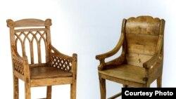 Два кресла XIX века из Вологодской губернии (Фото из каталога выставки, авторы: Юрий Винецкий и Владислав Карукин)
