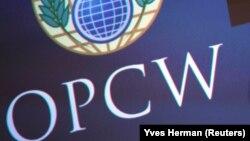Логотип Организации по запрещению химического оружия (ОЗХО).