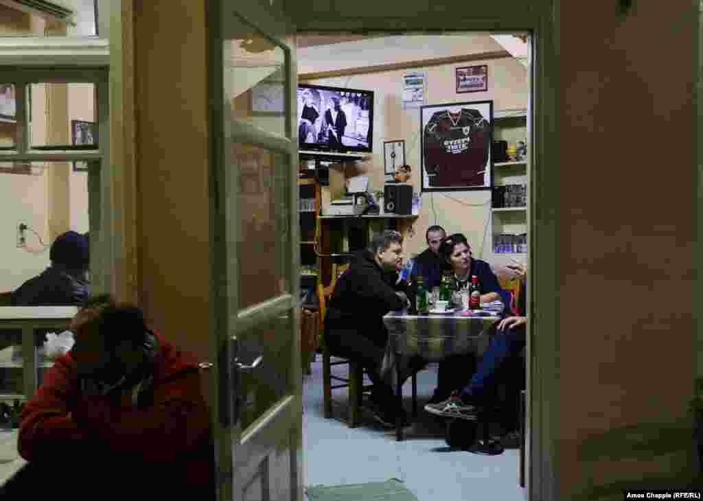 In the Giota Kafeneion, a taverna in the center of Moria, the regulars are used to migrants wandering through their village. Despite many locals sharing stories of chickens and sheep being stolen, there is little anger.