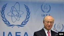 Yukiya Amano, Drejtori Gjeneral, i Agjencisë Ndërkombëtare të Energjisë Atomike, gjatë konferencës në Vjenë, të hënën