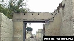 One of the two main entrances to the Hindu village Prem Nagar in Khost.