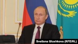 Президент России Владимир Путин. Астана, 15 октября 2015 года.