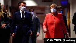 Գերմանիայի կանցլեր Անգելա Մերկել և Ֆրանսիայի նախագահ Էմանյուել Մակրոն, արխիվ