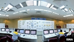 The control room of Iran's Bushehr nuclear plant
