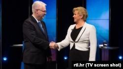 Ivo Josipović i Kolinda Grabar Kitarović nakon duela